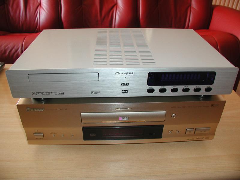 Micromega DVD3 et Pioneer DV717